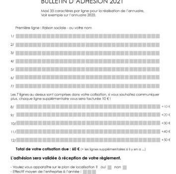 bulletin adhesion adherent avec vous-2021